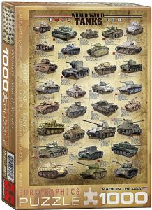 World War 2 Tanks 1000 piece jigsaw puzzle  680mm x 490mm (pz)